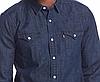 Джинсовая рубашка Levis Classic Western Shirt - Dark Wash Blue, фото 3