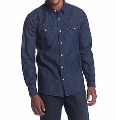 Джинсовая рубашка Levis Classic Western Shirt - Dark Wash Blue (L)