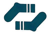 Носки украинского производителя SOX цвета морской волны с бежевыми полосками