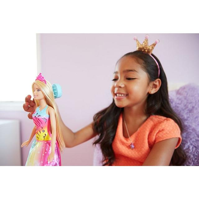 Barbie Лялька Barbie Dreamtopia Brush 'n Sparkle Princes (Кукла Mattel Барби Волшебные волосы принцессы FRB12)