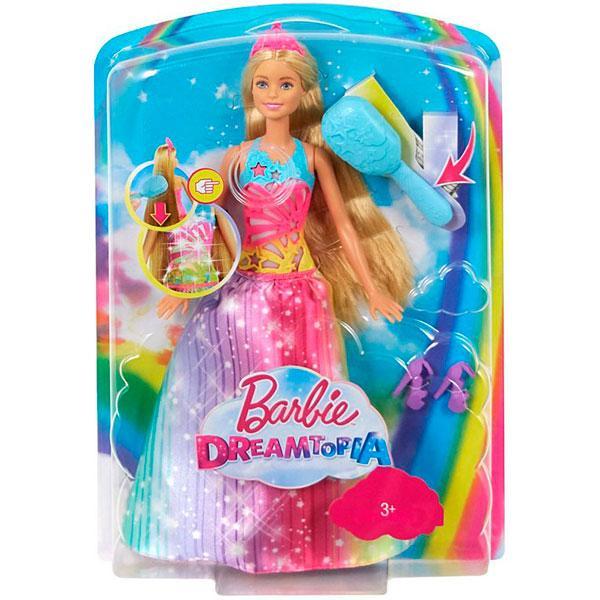 Barbie Лялька Barbie Dreamtopia Магия красок и звуков (Кукла Mattel Барби Волшебные волосы принцессы FRB12)