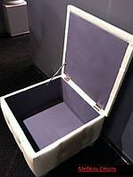 Пуфик, отделка экокожа серебристого цвета №69, фото 3
