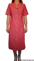 Платье женское,повседневное в стиле сафари. Хлопок 100%. Польша. Р-р 46-52. Цвета: голубой, красный, оранжевый