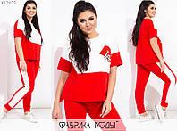 Спортивный костюм женский с короткими рукавами (2 цвета) PY/-1017 - Красный, фото 1