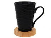 Чашка на бамбуковой подставке 400 мл