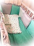 """Комплект """"MK"""" в детскую кроватку, фото 3"""