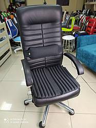 Ортопедичні подушки EKKOSEAT на офісне крісло керівника (комплект). Чорна