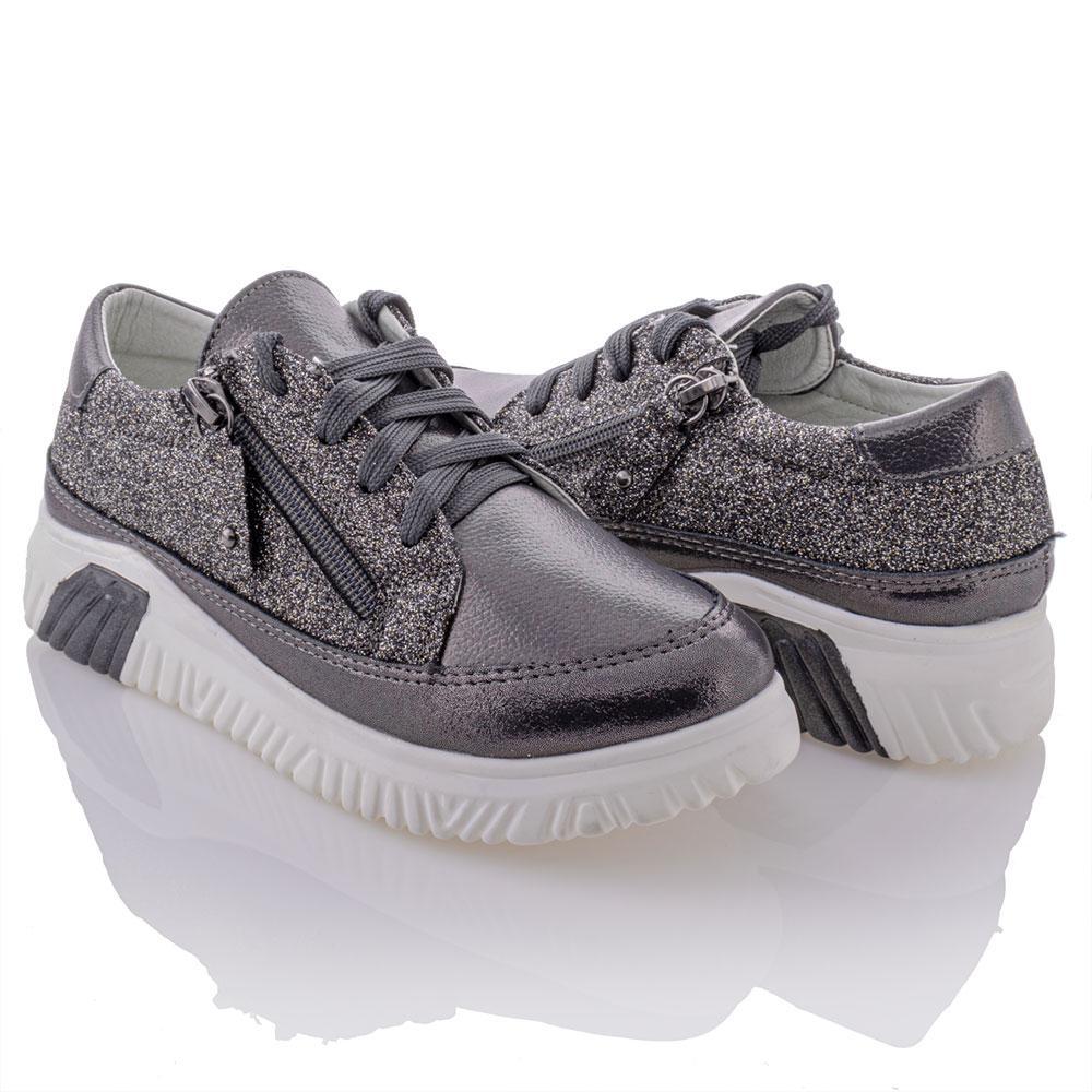 Туфли для девочек Bessky 32  платина 980910