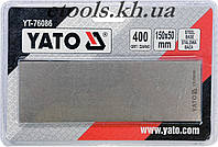 Брусок абразивный алмазный  YATO 150х50х4мм с грануляцией G400