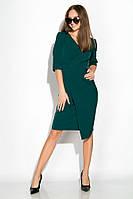 Платье (полубатал) 136P685 (Бутылочный)