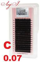 Ресницы LashSecret 0.07 C. чёрные MIX. 16 линий