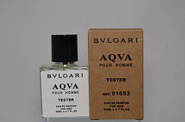 Тестер Bvlgari Aqva Pour Homme для Чоловіків і хлопців 50 мл виробництва ОАЕ