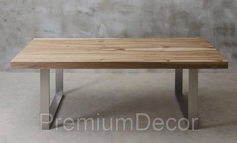 Стол из массива дерева грецкого ореха лофт мебель 230Х100Х77 см