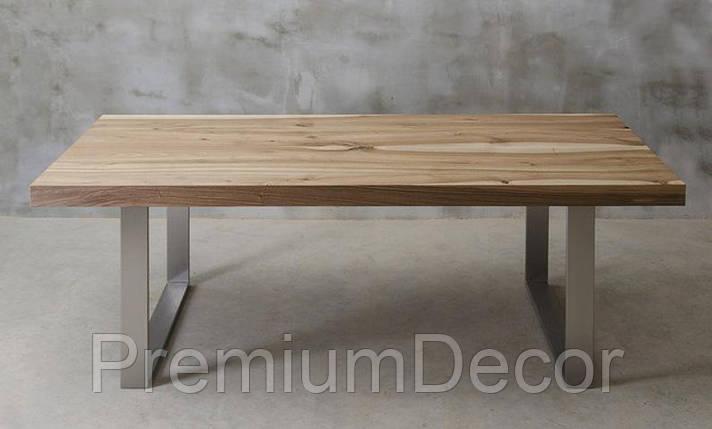 Стол из массива дерева грецкого ореха лофт мебель 230Х100Х77 см, фото 2