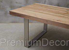 Стол из массива дерева грецкого ореха лофт мебель 230Х100Х77 см, фото 3