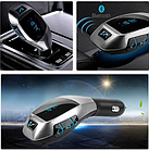 FM модулятор автомобильный 405 X5 с Bluetooth от прикуривателя / ФМ модулятор трансмиттер, фото 3