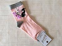 Женские носки 36-39 размер. Розовые с кошечками