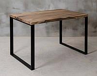Стол из массива дерева грецкого ореха лофт мебель 120Х80Х77 см