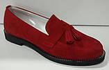 Туфли женские на низком ходу из натуральной замши от производителя модель КС9104, фото 3
