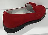 Туфли женские на низком ходу из натуральной замши от производителя модель КС9104, фото 4