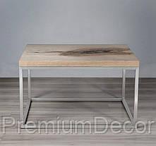 Стол из массива дерева дуба лофт мебель 73Х58Х46 см, фото 2
