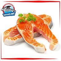 Охлаждённый стейк лосося