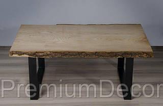 Стол из массива дерева ясеня лофт мебель 110Х60Х46 см, фото 2