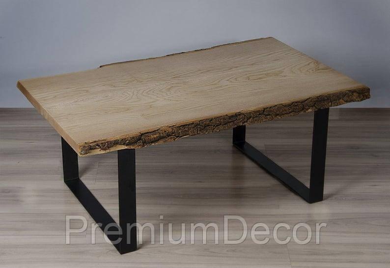 Стол из массива дерева ясеня лофт мебель 110Х60Х46 см
