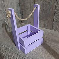 Деревянный ящик сиреневый