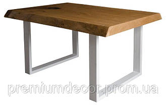 Стол из массива дерева дуба лофт мебель 100Х60Х46 см, фото 2