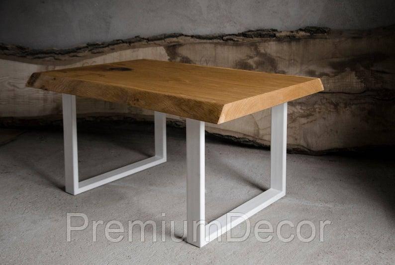 Стол из массива дерева дуба лофт мебель 100Х60Х46 см