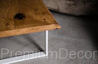 Стол из массива дерева дуба лофт мебель 100Х60Х46 см, фото 3