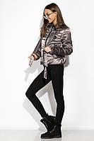Демисезонная женская куртка 120PST021 (Серо-фиолетовый)