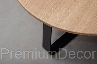 Стол из массива дерева ясеня лофт мебель 80Х46 см, фото 3