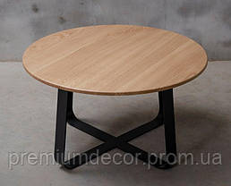 Стол из массива дерева ясеня лофт мебель 80Х46 см, фото 2