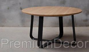 Стол из массива дерева ясеня лофт мебель 80Х46 см