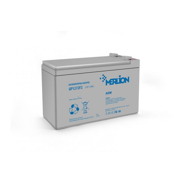 Аккумуляторная батарея Merlion AGM GP1272F2 12V 7.2Ah