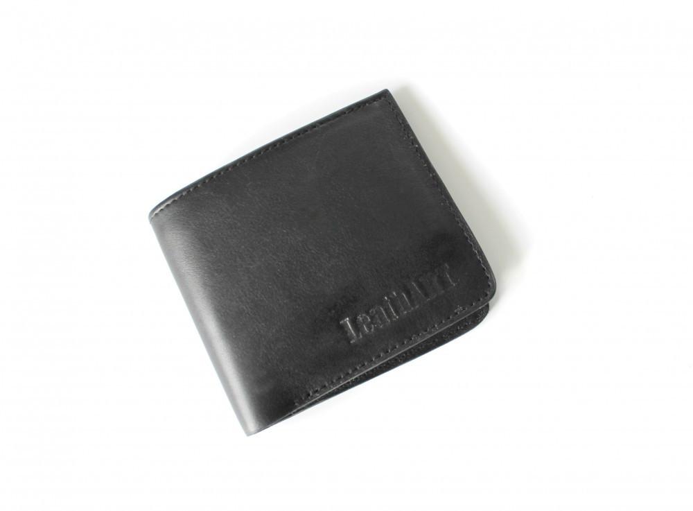 """Чоловічий Шкіряний гаманець """"Аlleviare"""" чорний"""