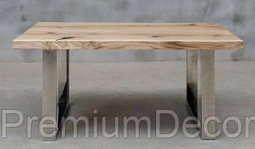 Стол из массива дерева ясеня лофт мебель 100Х60Х46 см, фото 3