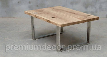 Стол из массива дерева ясеня лофт мебель 100Х60Х46 см, фото 2