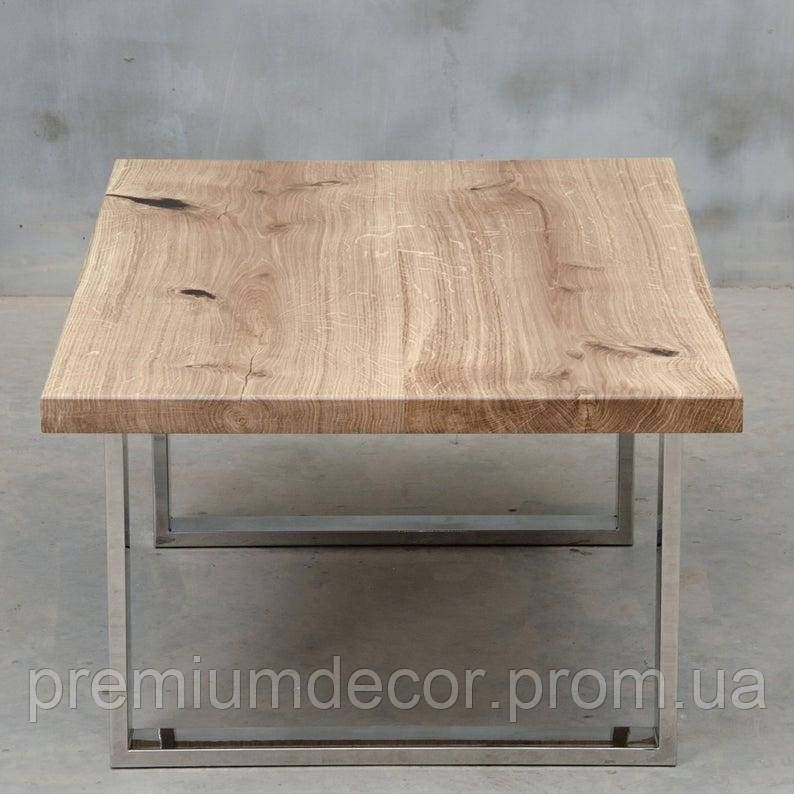 Стол из массива дерева ясеня лофт мебель 100Х60Х46 см