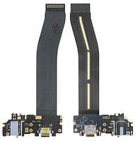 Шлейф Meizu Pro 6 Plus, с разъемом зарядки, наушников и микрофоном белый