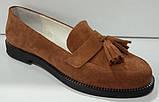 Туфли женские на низком ходу из натуральной замши от производителя модель КС9104-2, фото 2