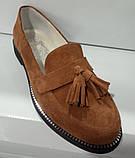 Туфли женские на низком ходу из натуральной замши от производителя модель КС9104-2, фото 4