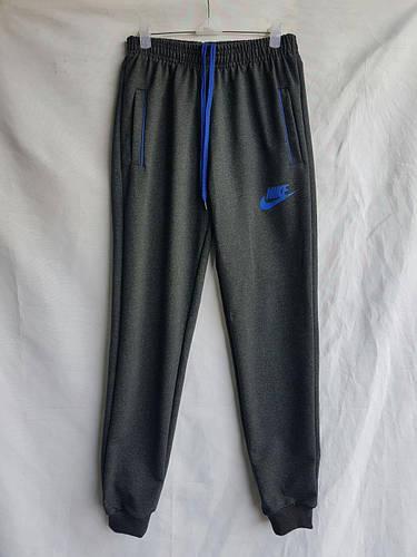 """Спортивные штаны детские """"Nike реплика"""" 7-8-9-10-11 лет (122-146 см). Темно-серые. Оптом"""