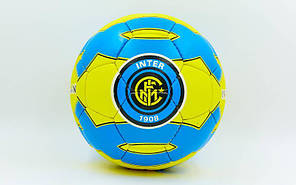 Мяч футбольный №5 Гриппи 5сл. INTER MILAN FB-0047-758 (№5, 5 сл., сшит вручную), фото 2