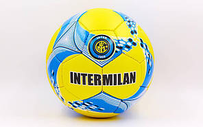 Мяч футбольный №5 Гриппи 5сл. INTER MILAN FB-6710 (№5, 5 сл., сшит вручную), фото 2