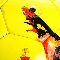 Мяч футбольный №5 PU ламин. VOIT FB-0715 (№5, 5 сл., сшит вручную, желтый), фото 3