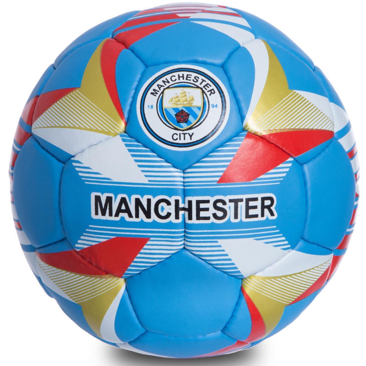 Мяч футбольный №5 Гриппи 5сл. MANCHESTER CITY FB-0684 (№5, 5 сл., сшит вручную)