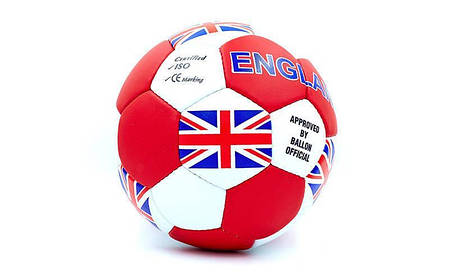 Мяч футбольный №5 Гриппи 5сл. ENGLAND FB-0047-138 (№5, 5 сл., сшит вручную), фото 2
